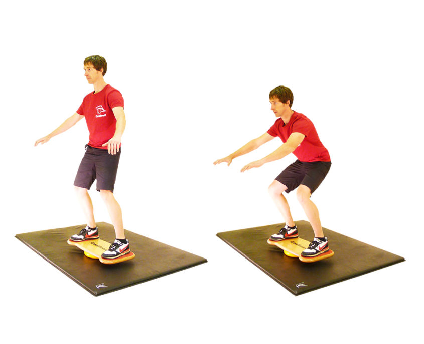Wobble Board Exercises for balance - Squat