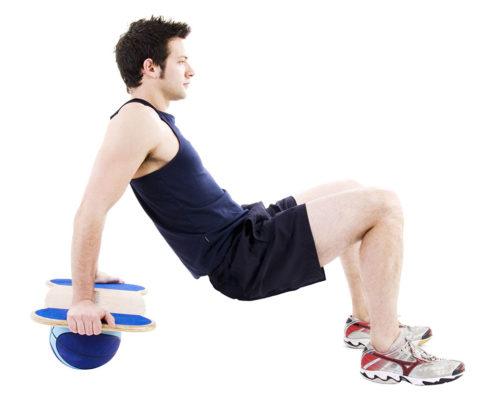 Balance board exercise