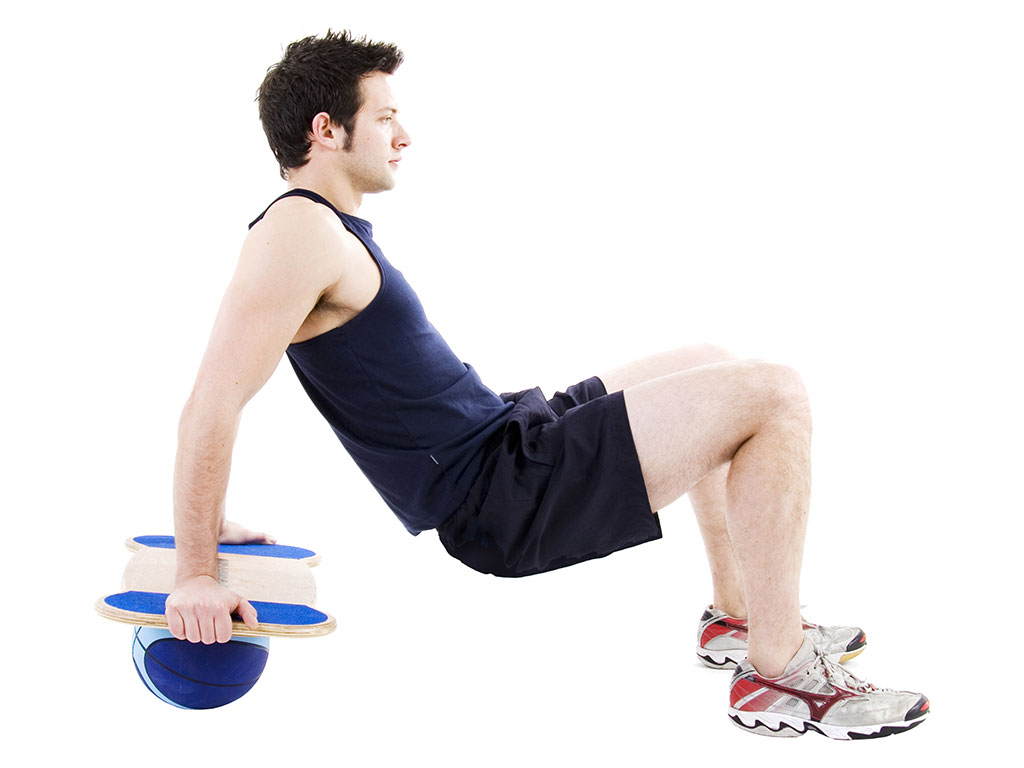 Balance board exercise