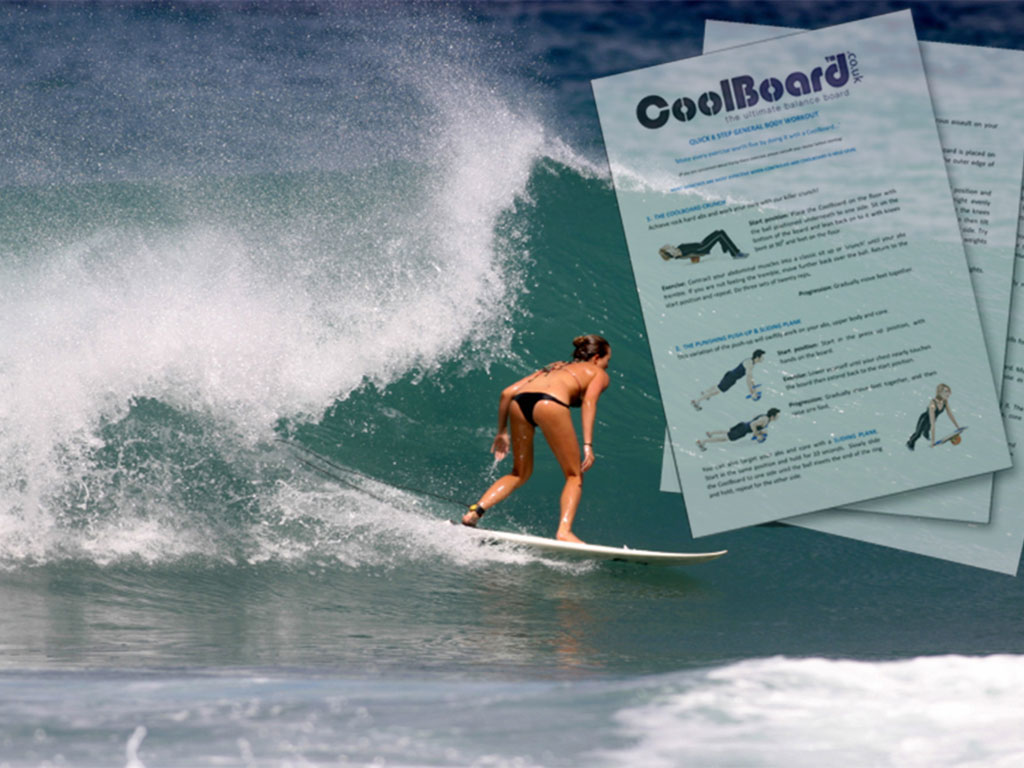 Surf Workout for CoolBoard Balance Board