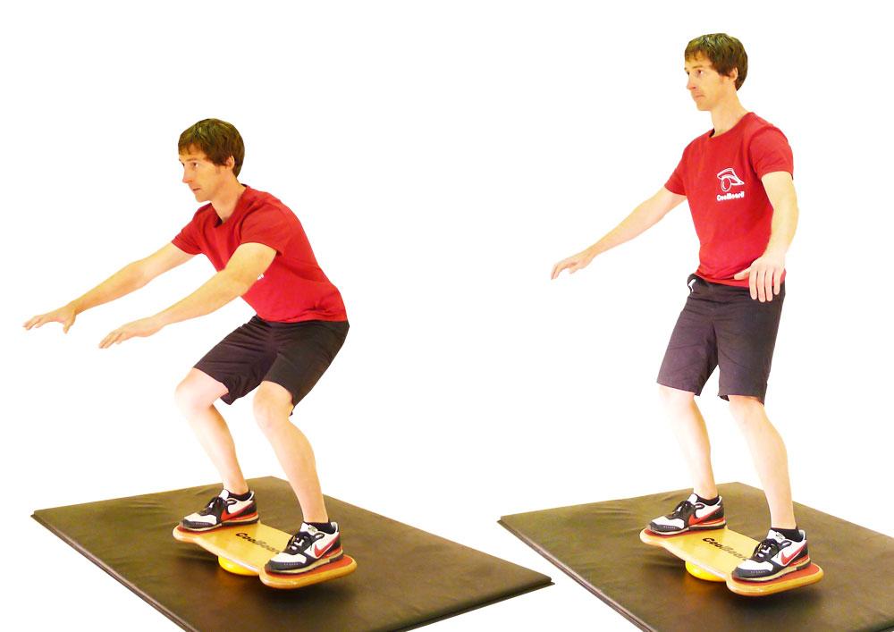 CoolBoard wobble board balance squat