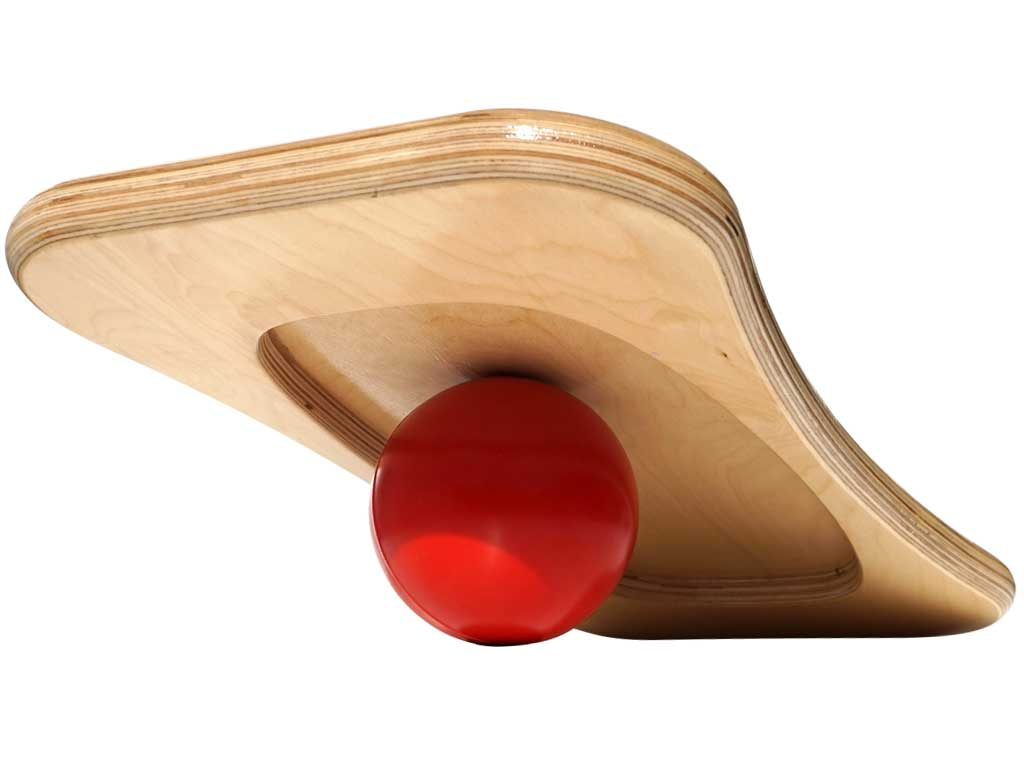 CoolBoard balance package underside on ball