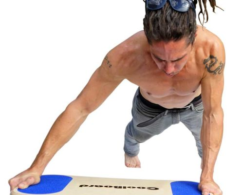 Jay does a Sliding Plank Core Exercise on CoolBoard