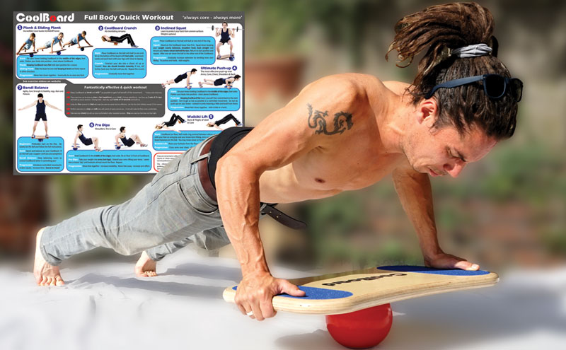 core training by muscle man with coolboard balance board core strength core muscles abdominals