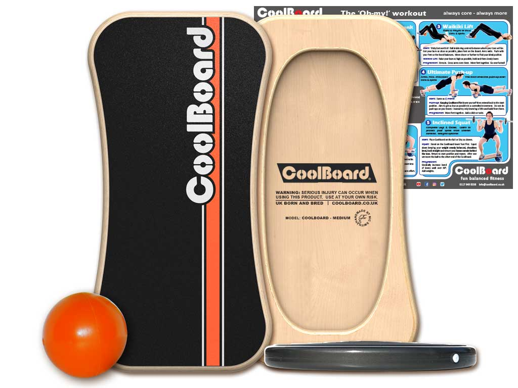 Large CoolBoard balance board with Ball and Disc 2