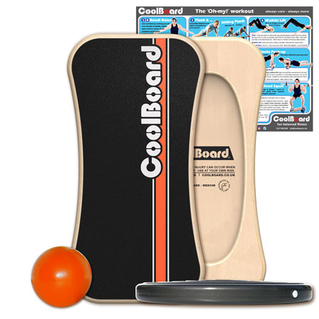 Medium CoolBoard balance board with Ball and Disc