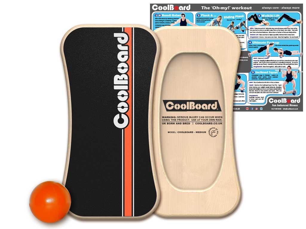 Medium CoolBoard balance board with Ball 2